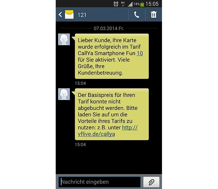 Vodafone CallYa Freikarte aktivieren
